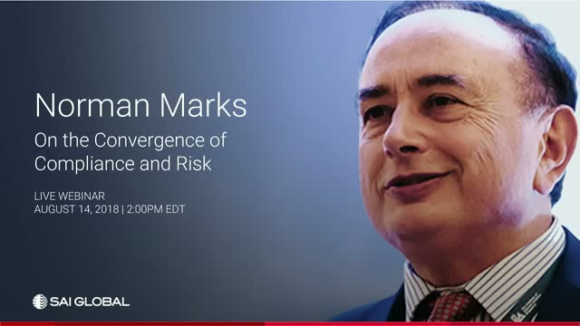 Norman Marks on the Convergence of Compliance and Risk