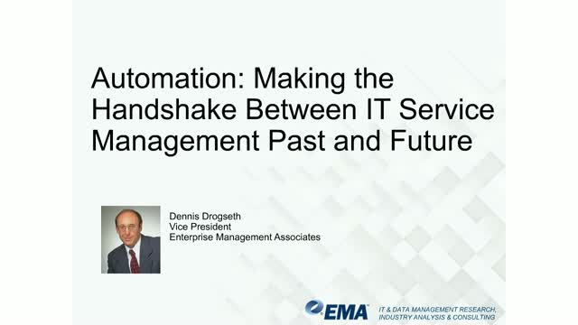 Automation: Making the Handshake Between IT Service Management Past and Future