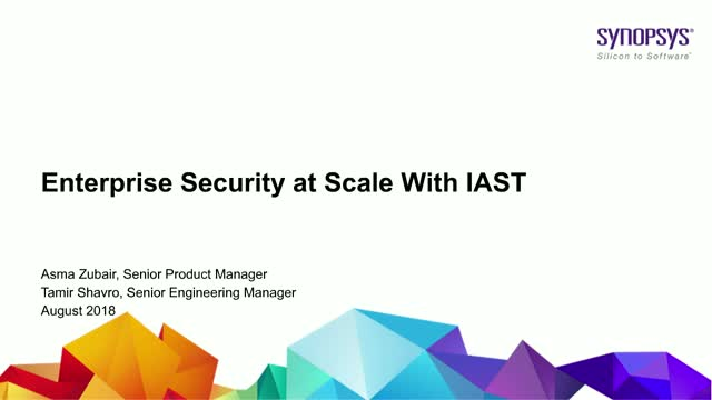 Enterprise Security at Scale With IAST