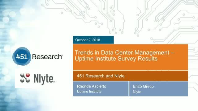 Trends in Data Center Management – Uptime Institute Survey Results