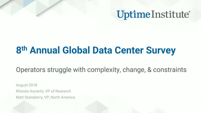 2018 Data Center Survey Results