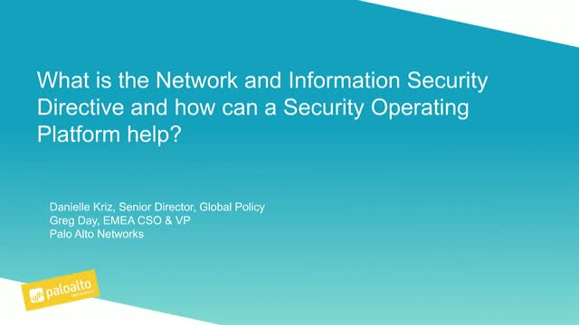 What is the EU NIS Directive… and how can a Security Operating Platform help?