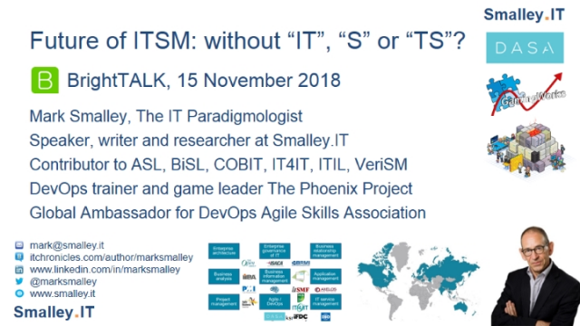 "Future of ITSM: without ""IT"", ""S"" or ""TS""?"