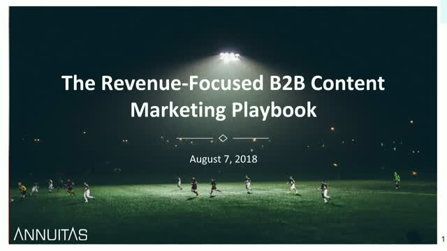 The Revenue-Focused B2B Content Marketing Playbook
