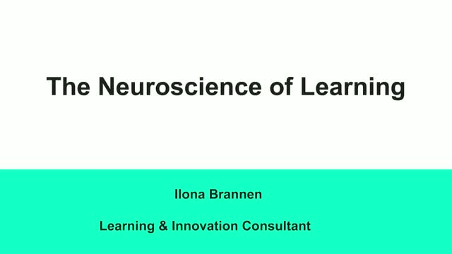 BrightTALK Masterclass Series: The Neuroscience of Learning