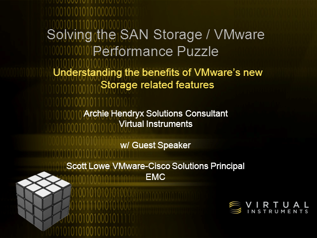 Solving the SAN Storage / VMware Performance Puzzle