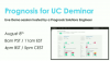 Prognosis for UC Live Demo [August 2018]