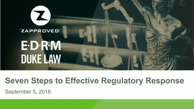 Seven Steps to Effective Regulatory Response