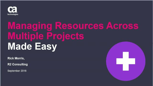 Managing Resources Across Multiple Projects Made Easy