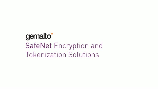 Gemalto SafeNet Encryption and Tokenization Solutions