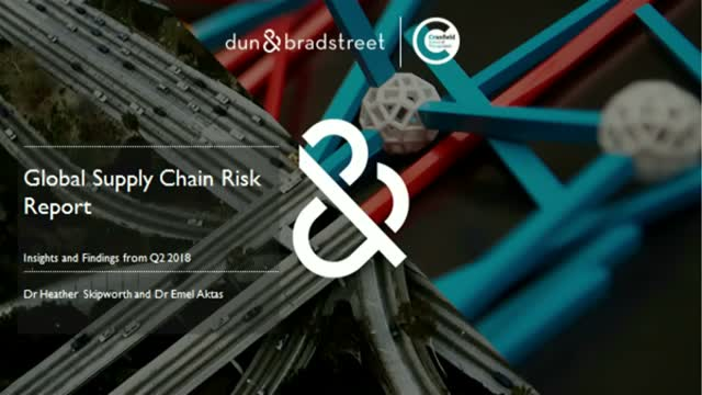 Global Supply Chain Risk Report: Insights and Findings from Q2 2018