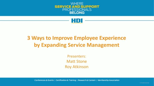 3 Ways to Improve Employee Experience by Expanding Service Management