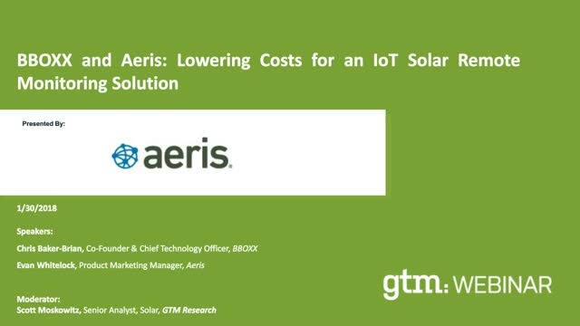 BBOXX and Aeris: Lowering Costs for an IoT Solar Remote Monitoring Solution