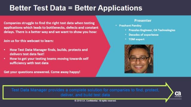 Better Test Data = Better Applications