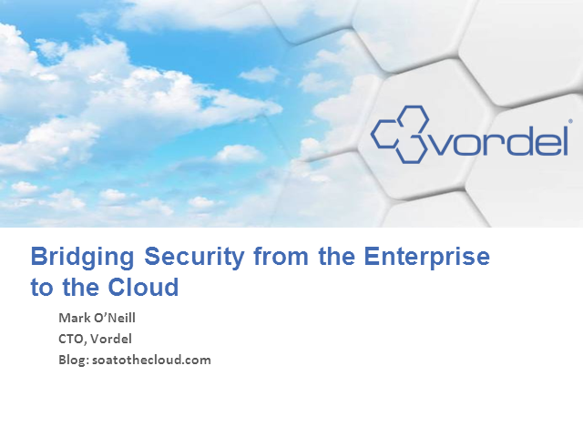 Bridging Security from the Enterprise to the Cloud