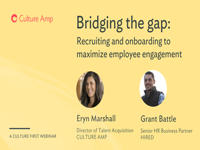 Recruiting and onboarding to maximize employee engagement