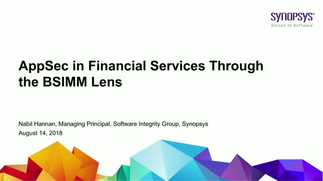 AppSec in Financial Services through the BSIMM Lens
