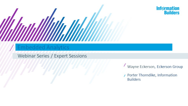 Embedded Analytics - Expert Sessions