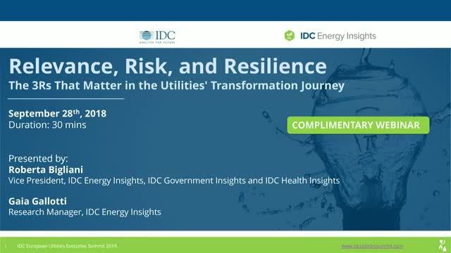 Relevance, Risk, and Resilience: The 3Rs That Matter in Utility Transformation
