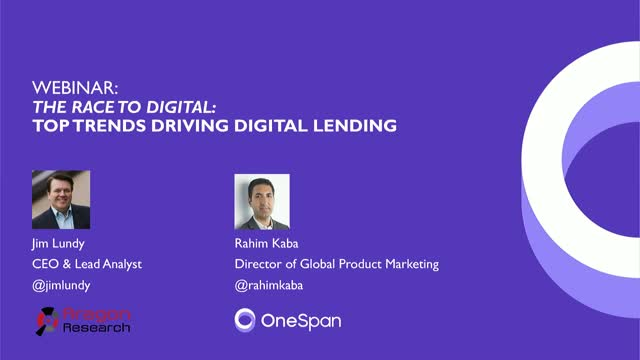 The Race to Digital: Three Trends Driving Digital Lending and Asset Management