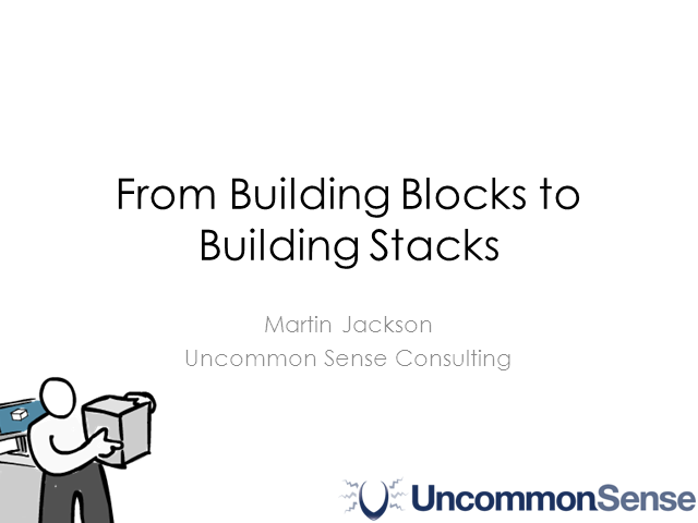 From Building Blocks to Building Stacks
