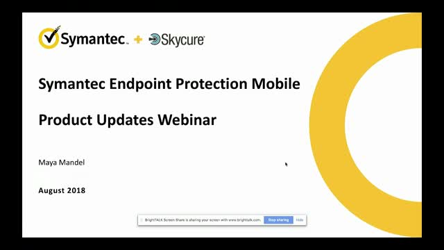 Symantec EndPoint Protection Mobile Product Updates - August 2018
