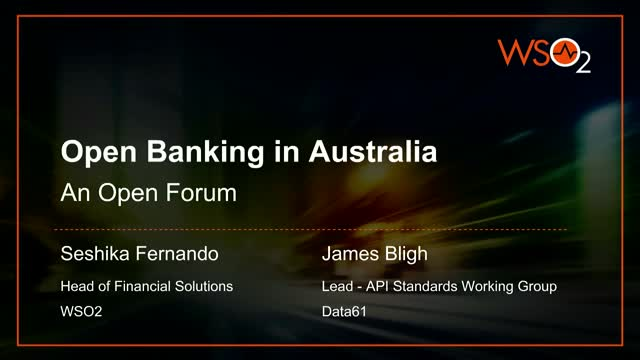 Open Banking in Australia - An Open Forum