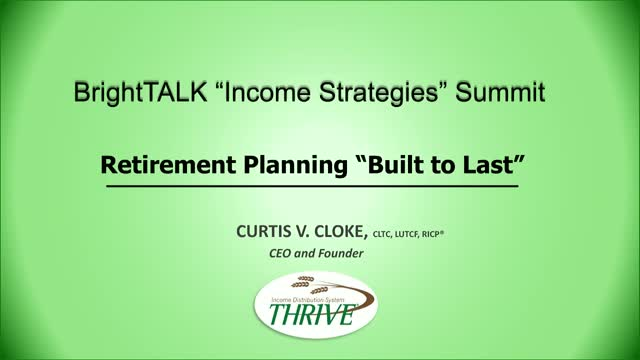 "Retirement Planning ""Built to Last"""