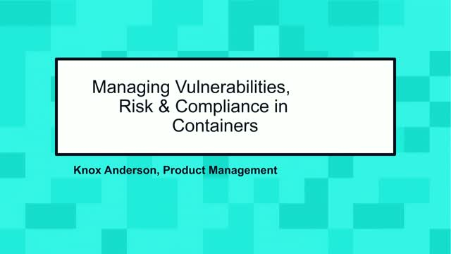 How to manage vulnerabilities in container environments