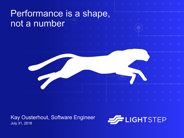 Software Performance is A Shape, Not a Number