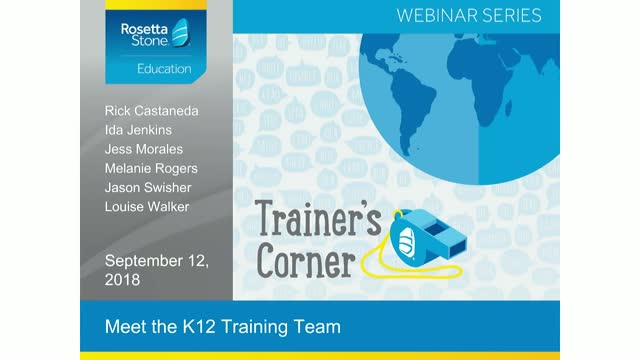 Trainer's Corner: Meet the K-12 Training Team