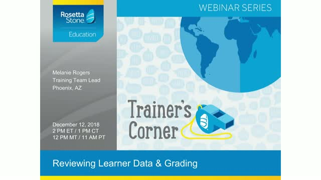 Trainer's Corner: Reviewing Learner Data and Grading