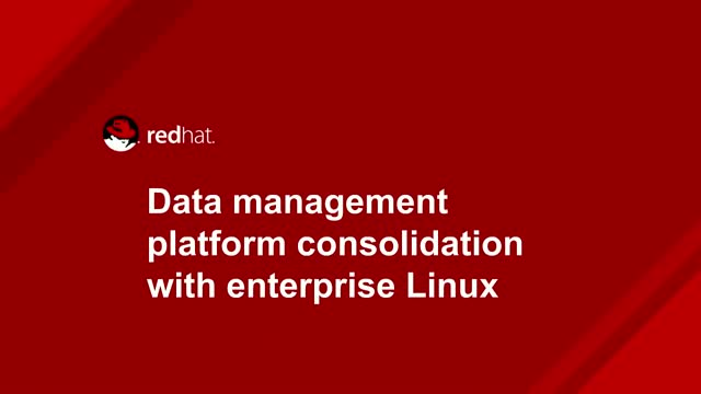 Data management platform consolidation with enterprise Linux