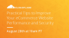 Practical Tips to Improve your eCommerce Website Performance and Security