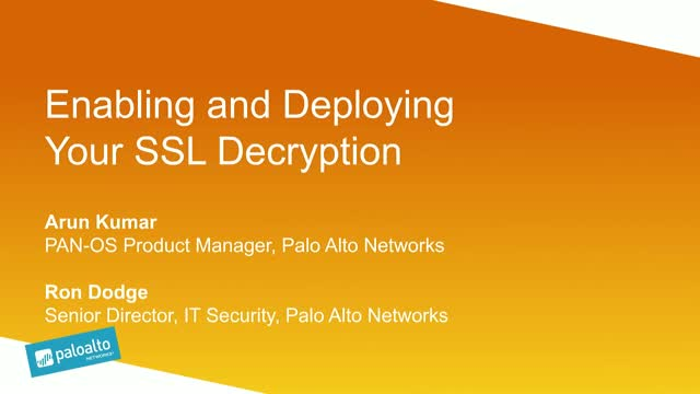 Enabling and Deploying Your SSL Decryption