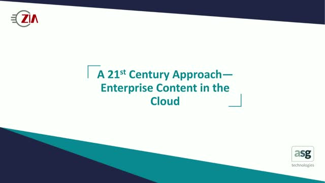 A 21st Century Approach—Enterprise Content in the Cloud