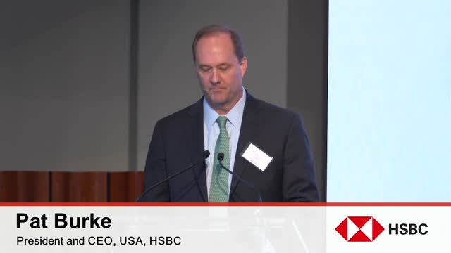2018 HSBC China Forum:  Pat Burke Official Welcome