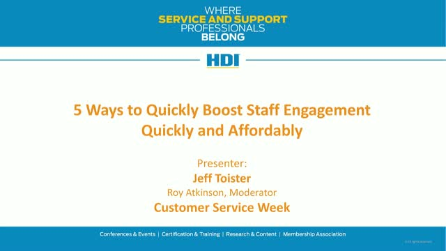 5 Ways to Boost Staff Engagement, Quickly and Affordably