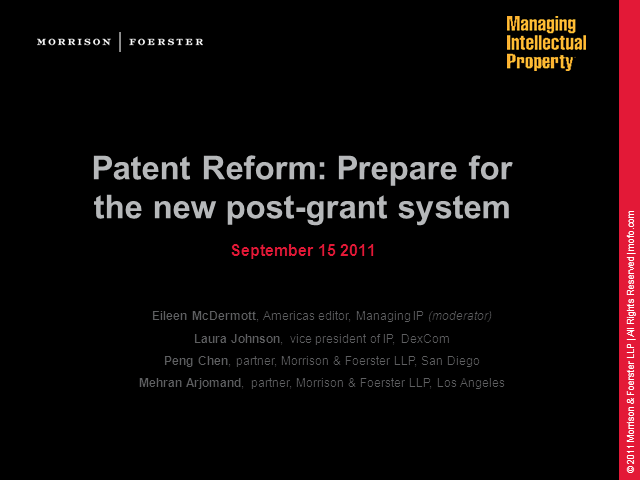 Prepare for the new post-grant system