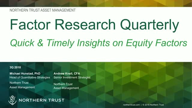 Factor Research Quarterly: Forecasts & Market Events
