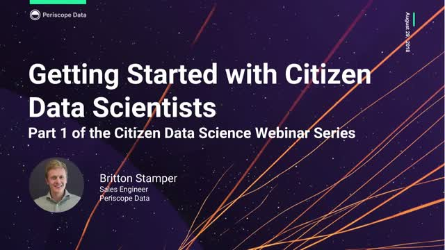 Getting Started with Citizen Data Scientists