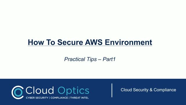 Securing AWS Environment - Practical Tips (Part 1)