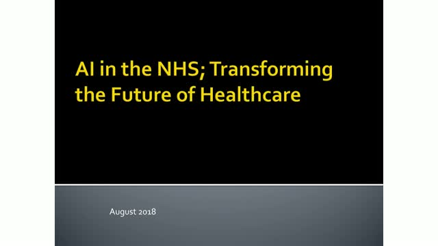 AI in the NHS: Transforming the Future of Healthcare