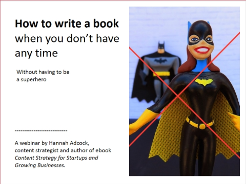 How to write a book when you don't have any time