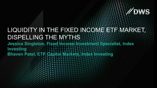 Liquidity in the Fixed income ETF market, dispelling the myths
