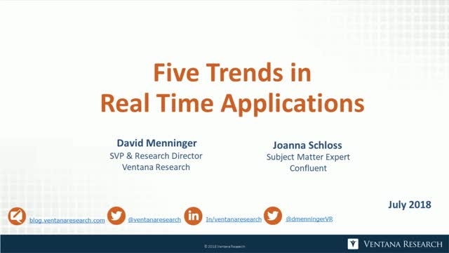 Five Trends in Real Time Applications