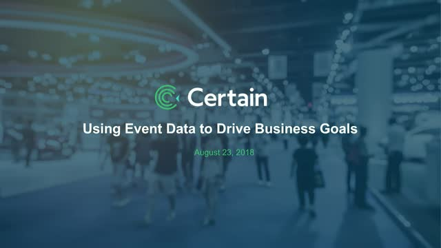 Using Event Data to Drive Business Goals