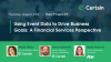 Using Data to Drive Business Goals: A Financial Services Perspective