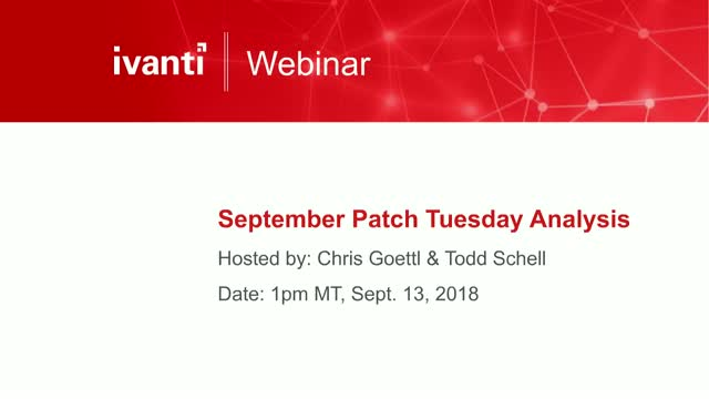 September Patch Tuesday Analysis