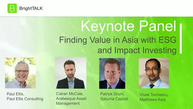 Live Webinar: Finding Value in Asia with ESG and Impact Investing